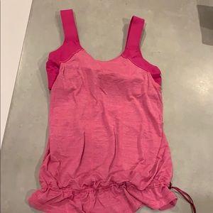 Lululemon women's pink drawstring top
